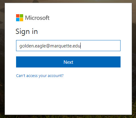 Log in to Office 365 Portal | IT Services | Marquette University