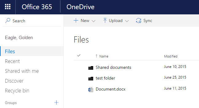 OneDrive for Business Documents show.