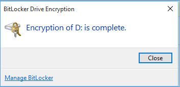 Bitlocker Drive Encryption window shows.