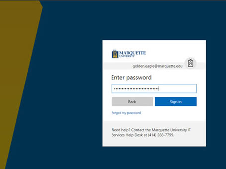 Sign in with your password, click Sign in