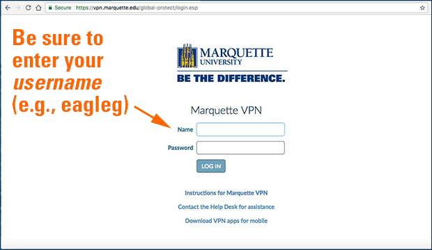 GlobalProtect VPN Instructions (Windows) | IT Services | Marquette  University