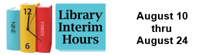 Interim Library hours