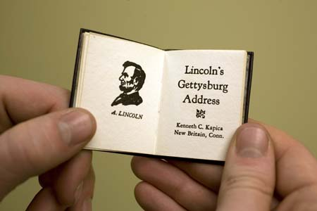 Photo of title page from Lincoln's Gettysburg Address book