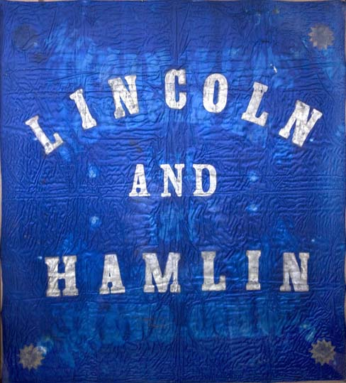 1860 Campaign Banner for Lincoln and Hamlin