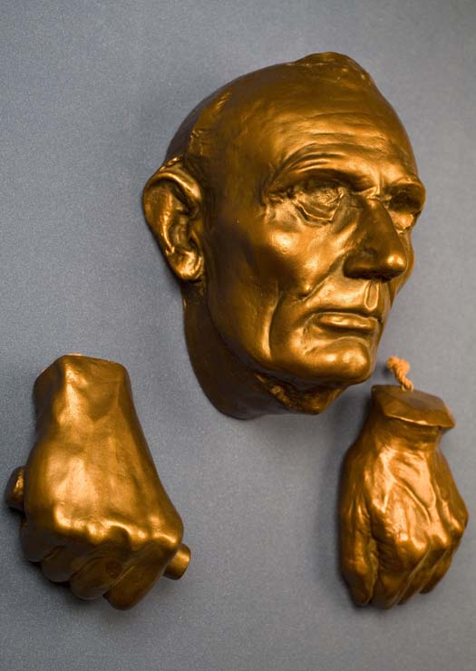 Photo of Life Mask and Hands of Abraham Lincoln