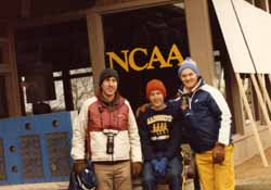 Keith Hanson and Jim Allen prior to NCAA championship race