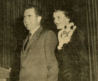 Photo of Richard Nixon from the Marquette Tribune Vol. 41, No. 11, page 1