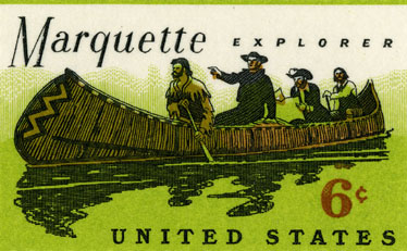 Photo of 6 cent postage stampe - Marquette Explorer, 1968