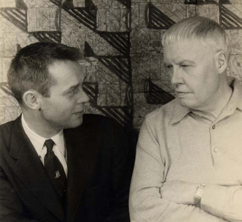 Photo of Karl Priebe and Carl Van Vechten