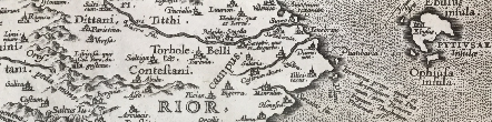 Detail from 1602 map