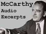 Connect to the Joseph R. McCarthy Speech Excerpts Audio Collection