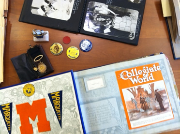 image of archival materials documenting student life