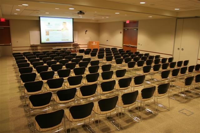 photo of large auditorium size conference room setup
