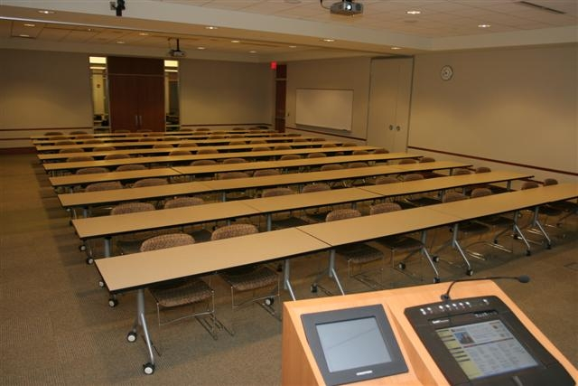 photo of large classroom style room setup