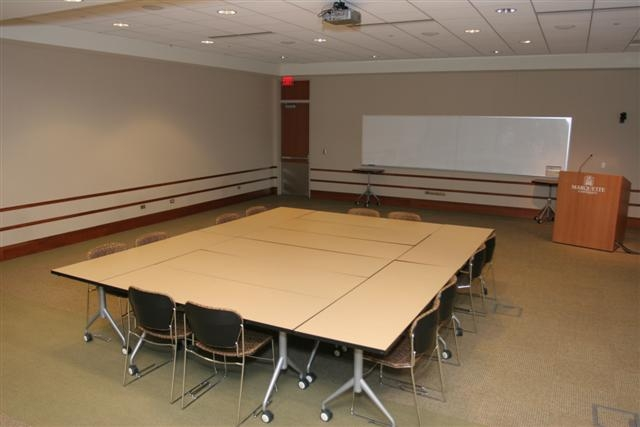 photo of block style conference room setup