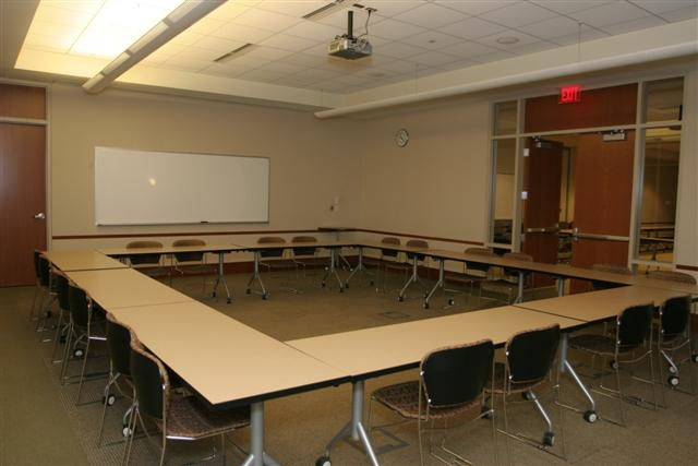 photo of conference style room setup