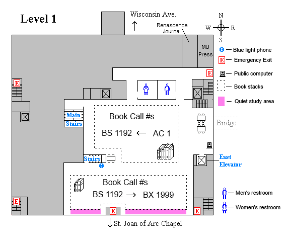 Memorial first level floor plan