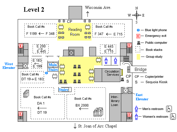 Memorial second level floor plan