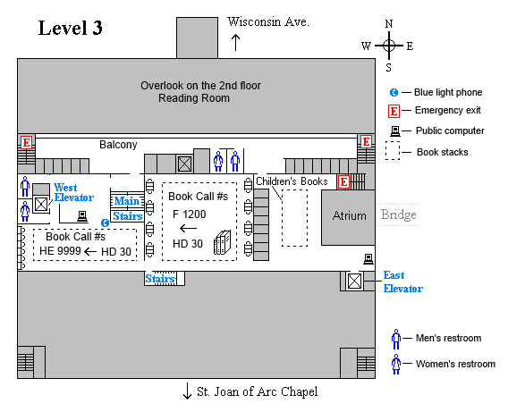 Memorial third level floor plan