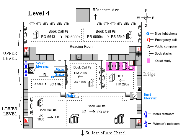 Memorial fourth level floor plan