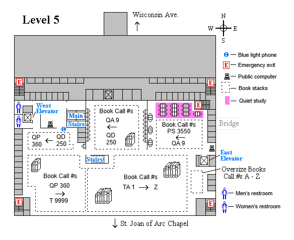 Memorial fifth level floor plan