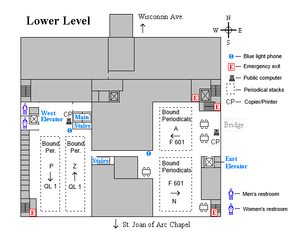 Memorial lower level floor plan