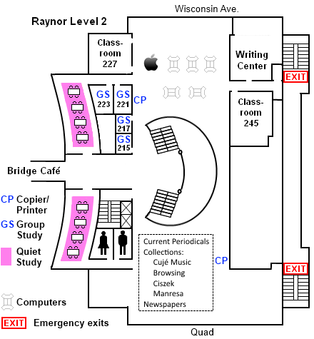 Raynor second level floor plan