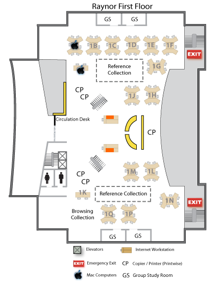 Raynor first floor map indicating Internet only 