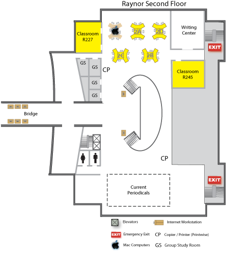 Raynor second floor map