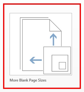 Microsoft Publisher-choosing more blank page sizes