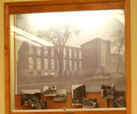 Photo of Memorial Library history display case