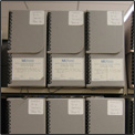 small photo of storage boxes identifying the A to Z  			  Checklist of Collections