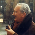 small photo of J.R.R. Tolkien identifying the Tolkien Collection
