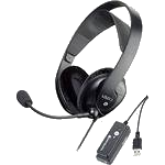 image of a headset with a microphone
