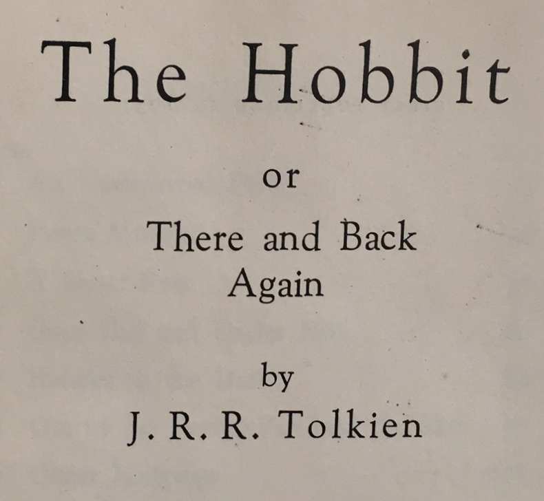 Cover title for The Hobbit or There and Back Again