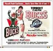 graphic of Milwaukee Bucks as advertised in the Milwaukee Journal