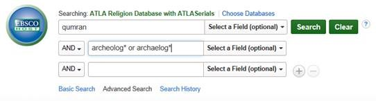 graphic showing ATLA search screen in EBSCO