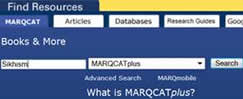 graphic of MARQCATplus search screen