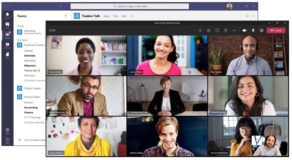 Microsoft Teams new meeting experience with pop-out window and fixed meeting controls