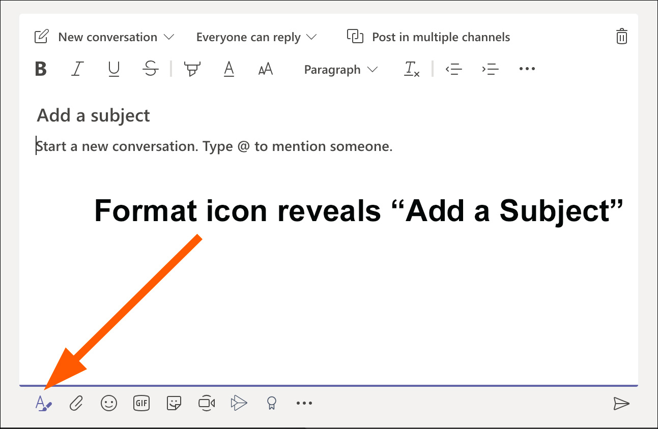 Add subject line