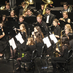 Wind ensemble performing