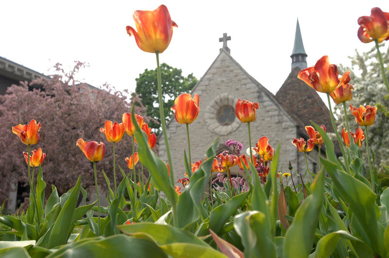 St. Joan of Arc Chapel in the Spring