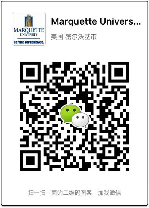 QR code to join Marquette on WeChat