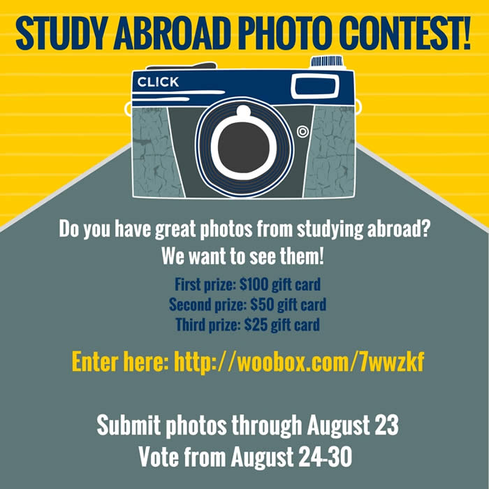 Flyer for the 2017 Study Abroad Photo Contest