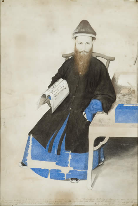 Matteo Ricci, c. 1850 (w/c on paper), Weld, Charles (fl. 1850) / By Permission of the Governors of Stonyhurst College / The Bridgeman Art Library