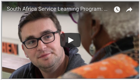 Photo of new South Africa Service Learning Program video on YouTube