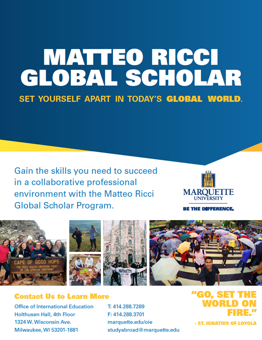 Matteo Ricci Global Scholar flyer image
