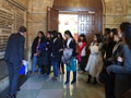 Students touring the Milwaukee Courthouse