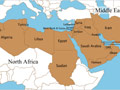 Map of the Middle East and North Africa