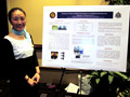 Poster Session presenter and her poster